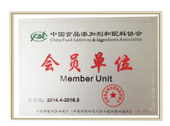 CHINA FOOD ADDITIVE PRODUCTION MEMBER