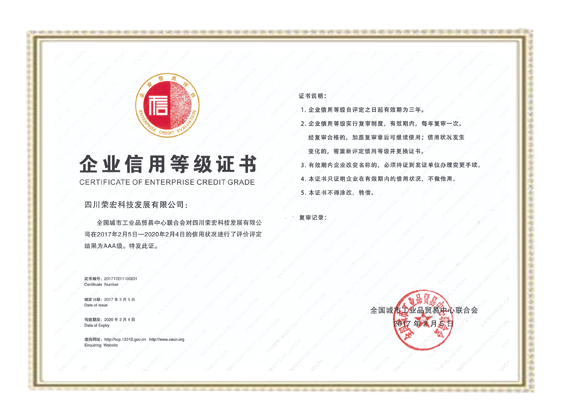 COMPANY CREDIT CERTIFICATE-AAAA